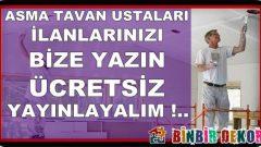 İstanbul Asma Tavan Ustaları Bize Yazın !..