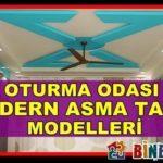 Oturma Odaları İçin Modern Asma Tavan Modelleri