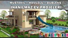 Hayalinizde ki 2 Katlı Havuzlu Müstakil Ev Projeleri