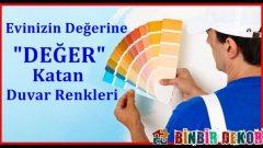 Evinizin Değerini Arttıran Duvar Renkleri